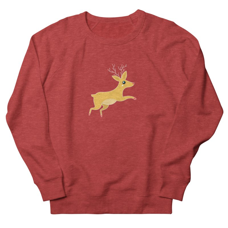 Christmas Reindeer Men's French Terry Sweatshirt by theladyernestember's Artist Shop