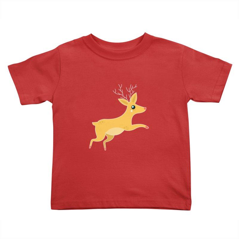 Christmas Reindeer Kids Toddler T-Shirt by theladyernestember's Artist Shop
