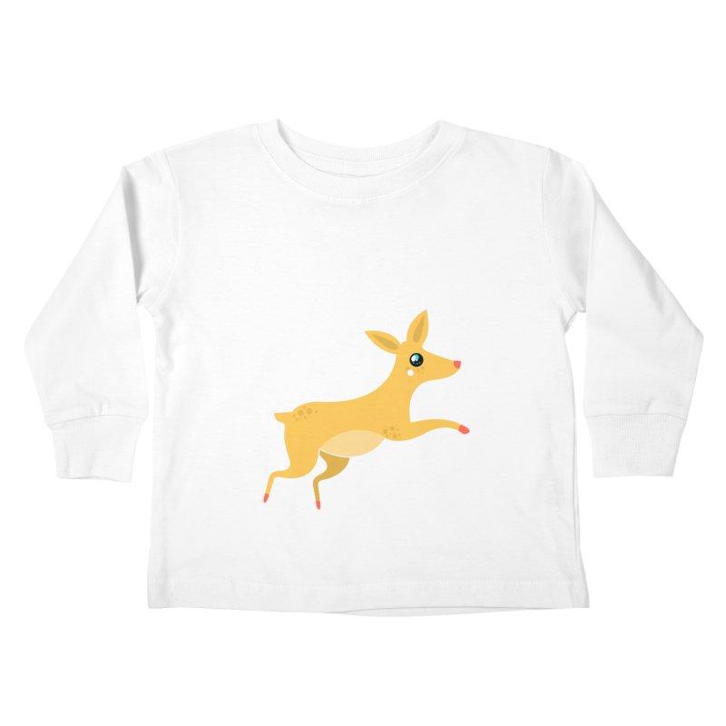 Christmas Reindeer Kids Toddler Longsleeve T-Shirt by theladyernestember's Artist Shop