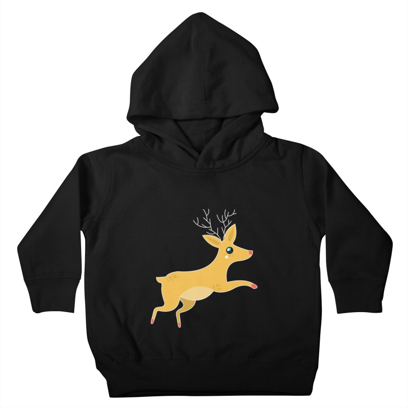 Christmas Reindeer Kids Toddler Pullover Hoody by theladyernestember's Artist Shop