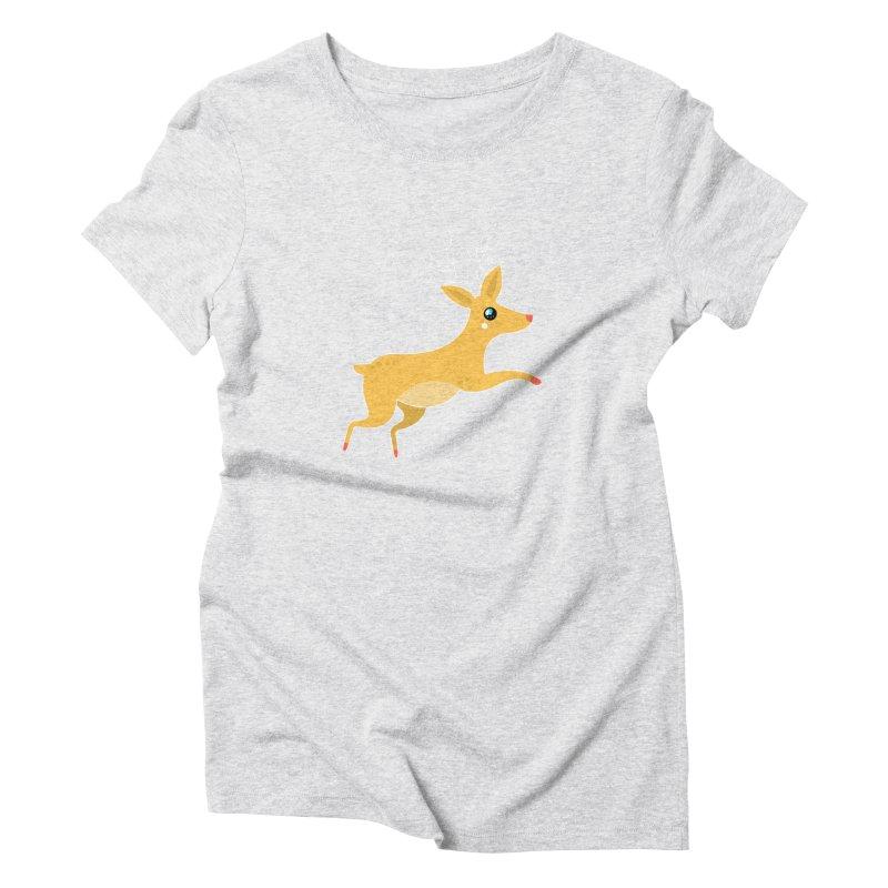 Christmas Reindeer Women's Triblend T-Shirt by theladyernestember's Artist Shop