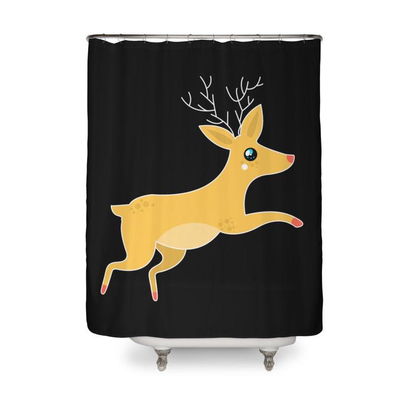 Christmas Reindeer Home Shower Curtain by theladyernestember's Artist Shop
