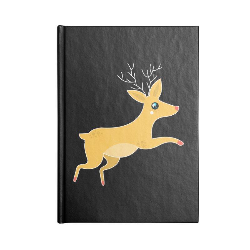 Christmas Reindeer Accessories Notebook by theladyernestember's Artist Shop