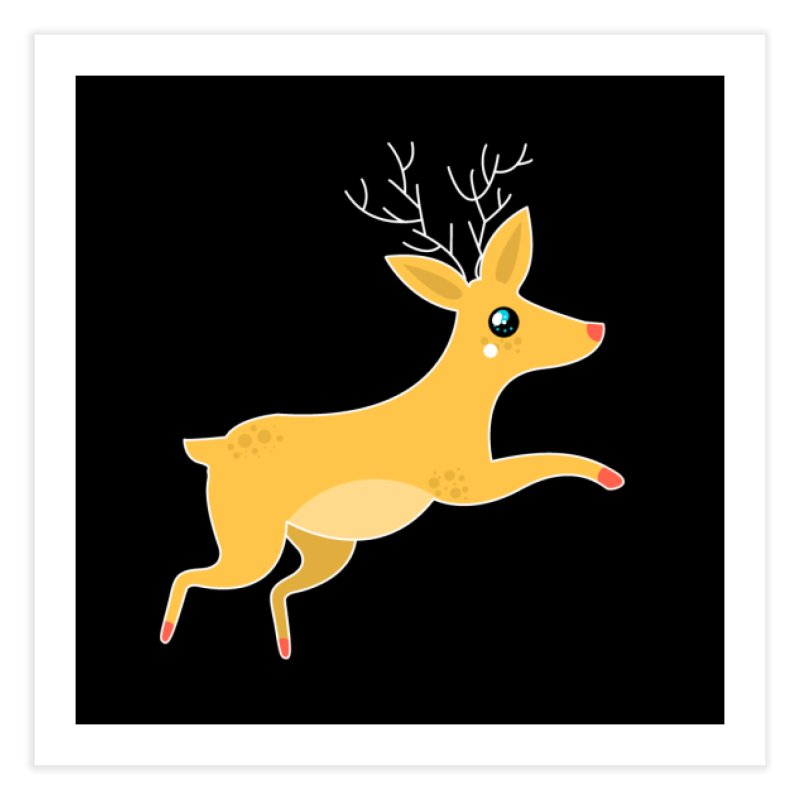 Christmas Reindeer Home Fine Art Print by theladyernestember's Artist Shop