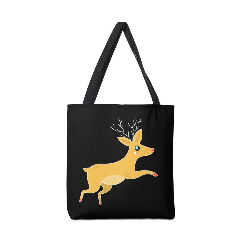Christmas Reindeer Accessories Bag by theladyernestember's Artist Shop