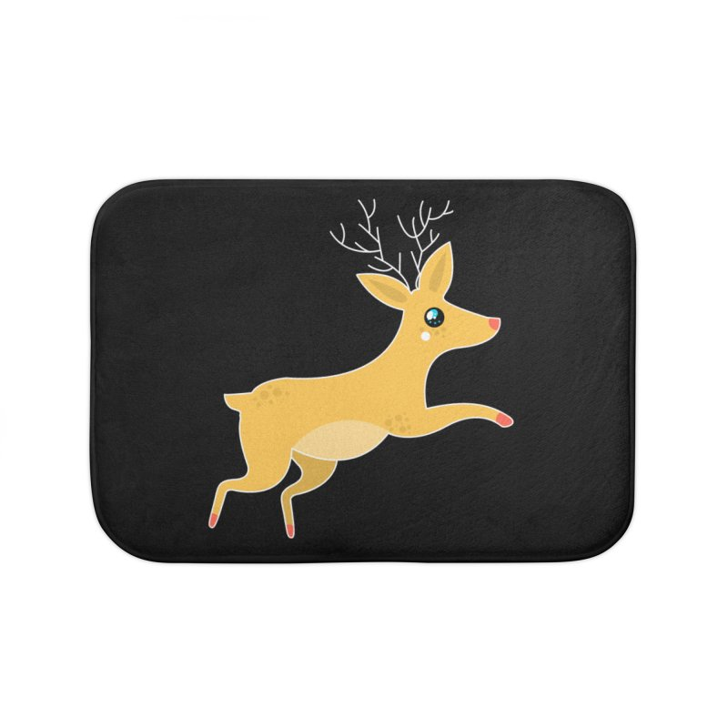 Christmas Reindeer Home Bath Mat by theladyernestember's Artist Shop