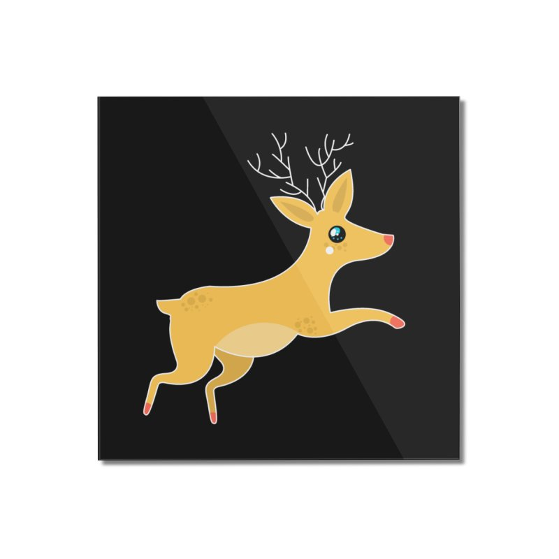 Christmas Reindeer Home Mounted Acrylic Print by theladyernestember's Artist Shop
