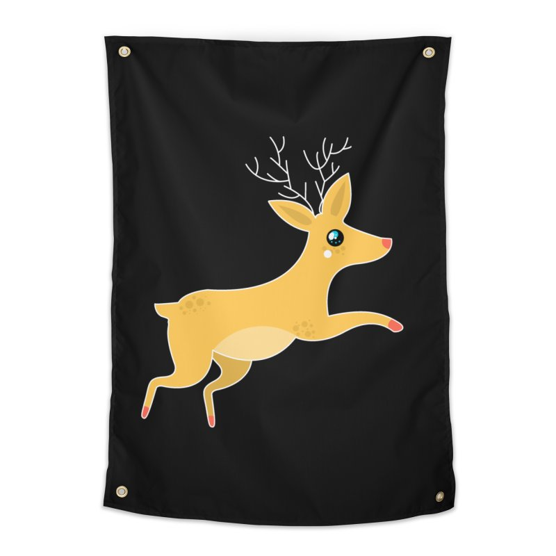 Christmas Reindeer Home Tapestry by theladyernestember's Artist Shop