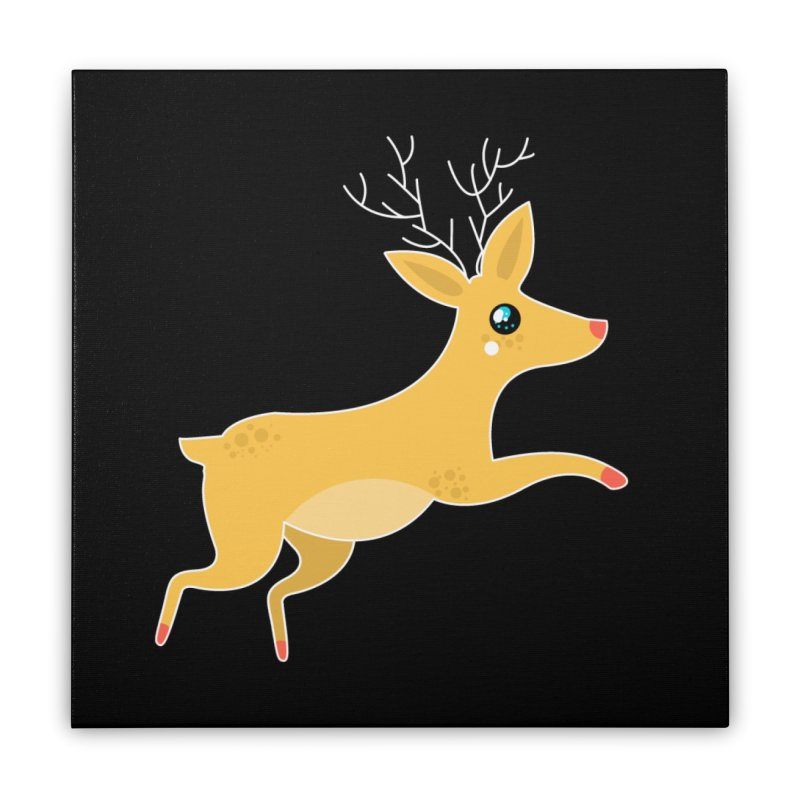 Christmas Reindeer Home Stretched Canvas by theladyernestember's Artist Shop