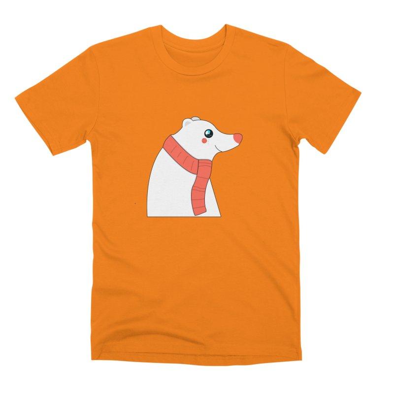 Christmas Polar Bear Men's T-Shirt by theladyernestember's Artist Shop