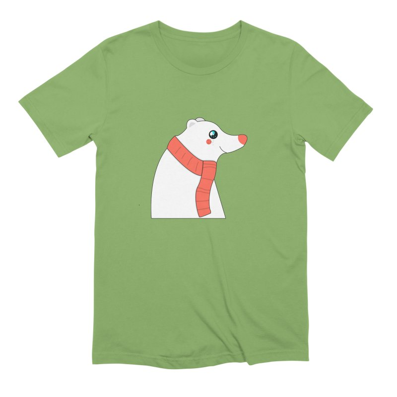 Christmas Polar Bear Men's T-Shirt by theladyernestember's Artist Shop