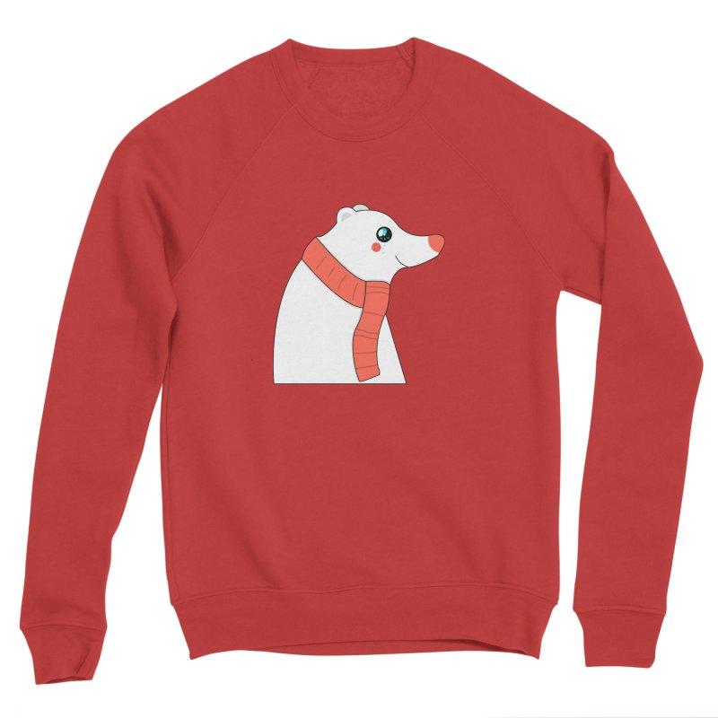 Christmas Polar Bear Men's Sponge Fleece Sweatshirt by theladyernestember's Artist Shop