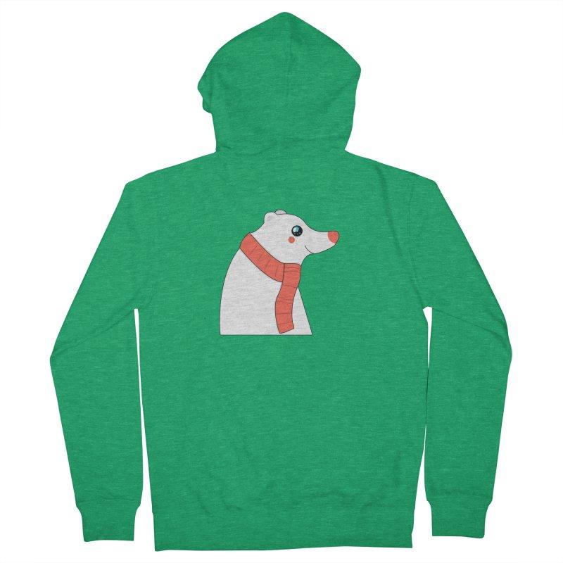 Christmas Polar Bear Men's Zip-Up Hoody by theladyernestember's Artist Shop