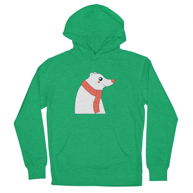Christmas Polar Bear Men's French Terry Pullover Hoody by theladyernestember's Artist Shop
