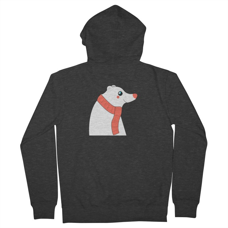 Christmas Polar Bear Women's French Terry Zip-Up Hoody by theladyernestember's Artist Shop