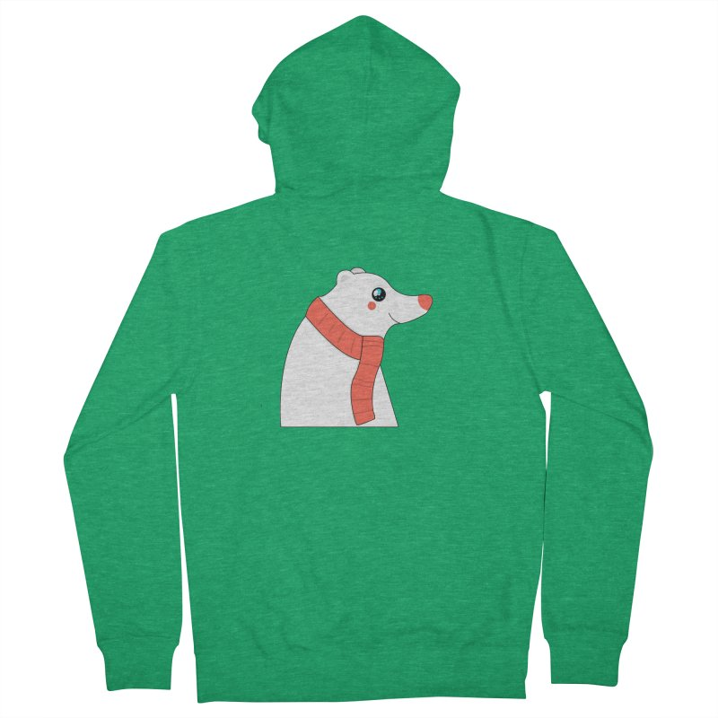 Christmas Polar Bear Men's French Terry Zip-Up Hoody by theladyernestember's Artist Shop