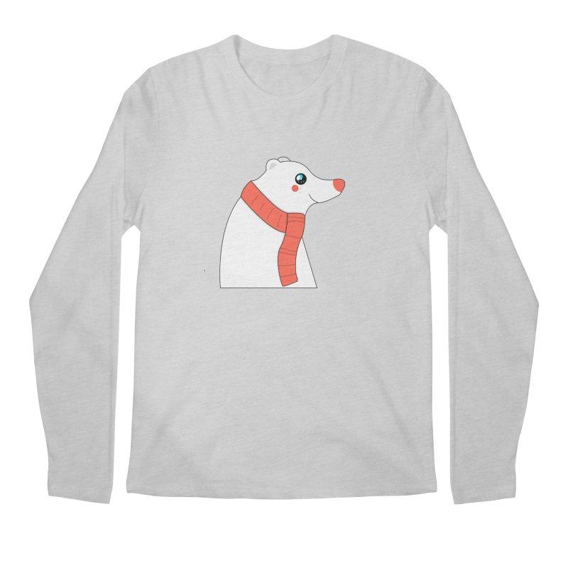 Christmas Polar Bear Men's Regular Longsleeve T-Shirt by theladyernestember's Artist Shop