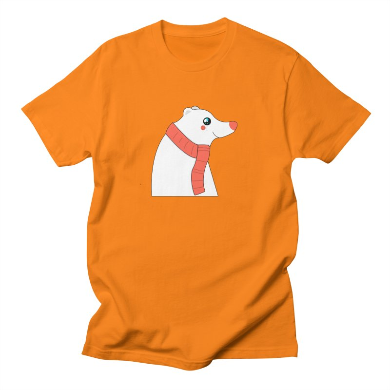 Christmas Polar Bear Men's Regular T-Shirt by theladyernestember's Artist Shop