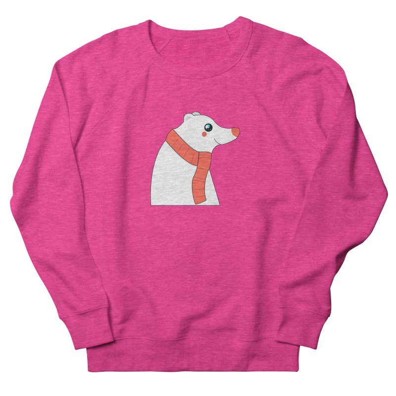 Christmas Polar Bear Women's French Terry Sweatshirt by theladyernestember's Artist Shop