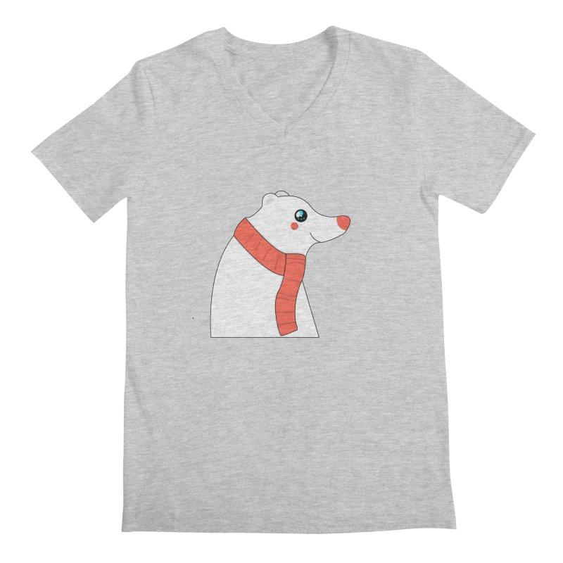 Christmas Polar Bear Men's Regular V-Neck by theladyernestember's Artist Shop