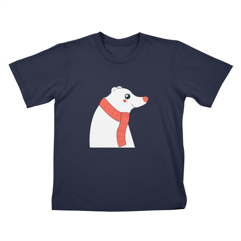 Christmas Polar Bear Kids T-Shirt by theladyernestember's Artist Shop