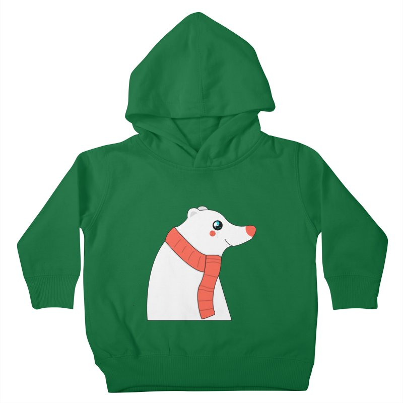 Christmas Polar Bear Kids Toddler Pullover Hoody by theladyernestember's Artist Shop