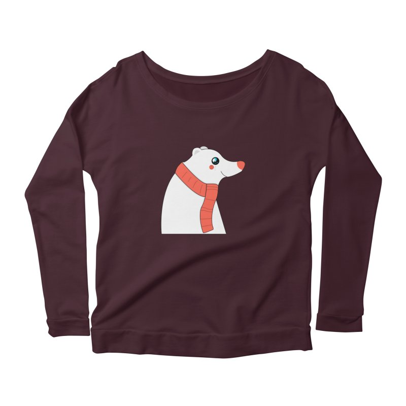 Christmas Polar Bear Women's Scoop Neck Longsleeve T-Shirt by theladyernestember's Artist Shop