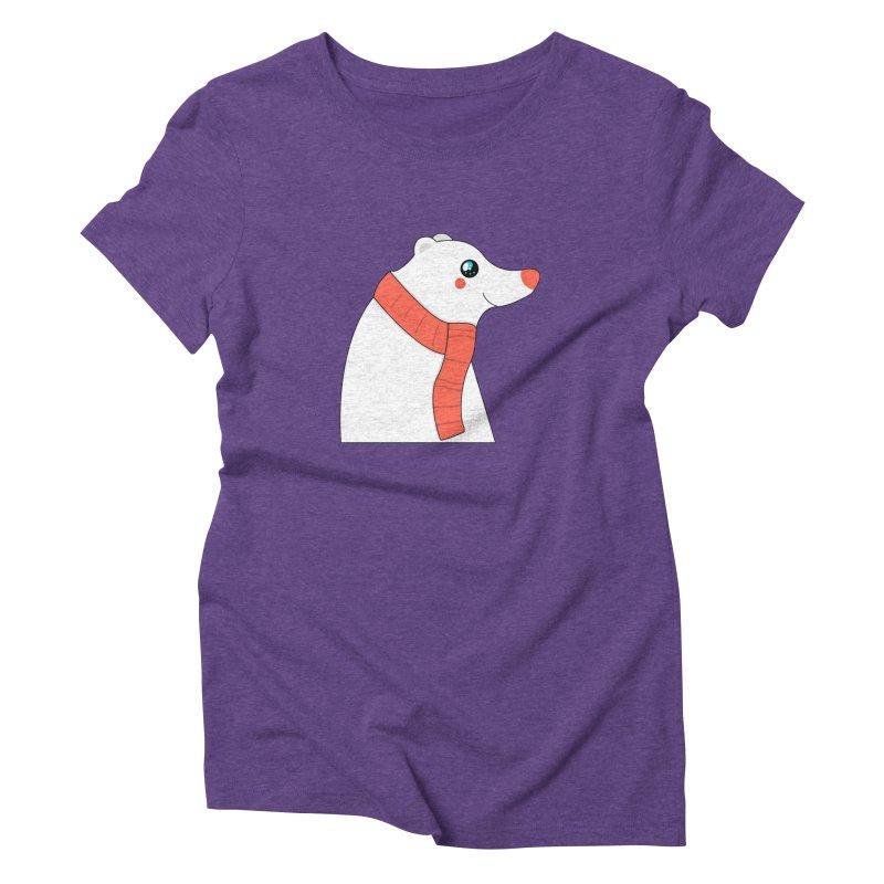 Christmas Polar Bear Women's Triblend T-Shirt by theladyernestember's Artist Shop