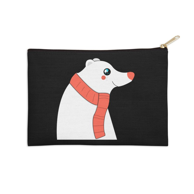 Christmas Polar Bear Accessories Zip Pouch by theladyernestember's Artist Shop