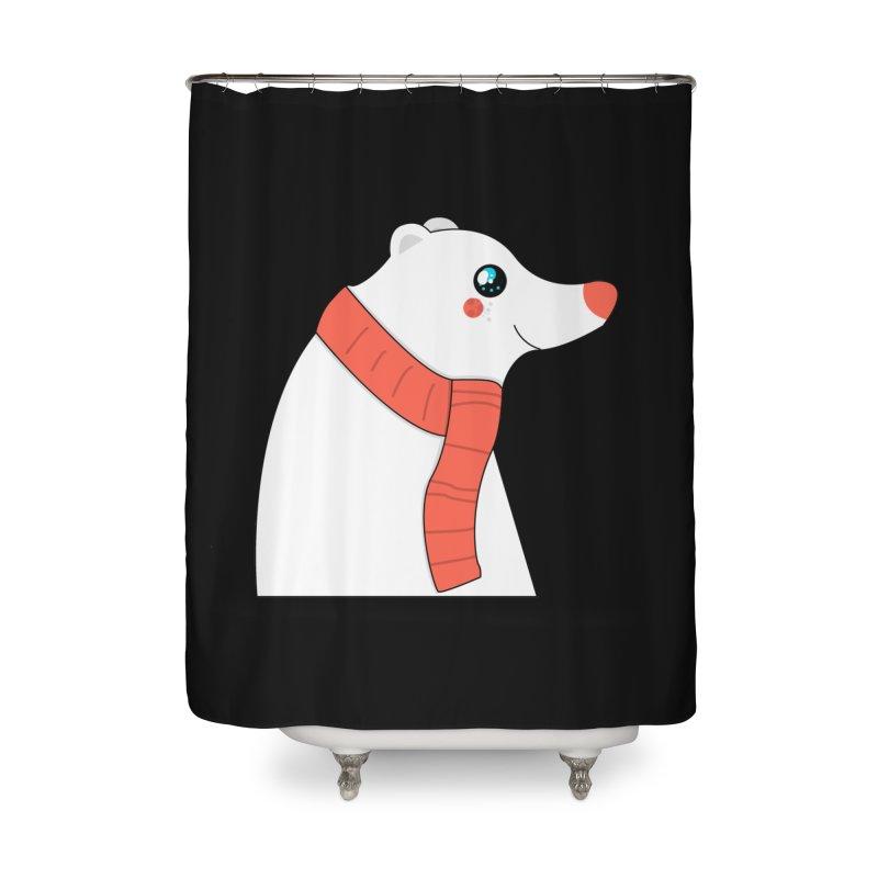 Christmas Polar Bear Home Shower Curtain by theladyernestember's Artist Shop
