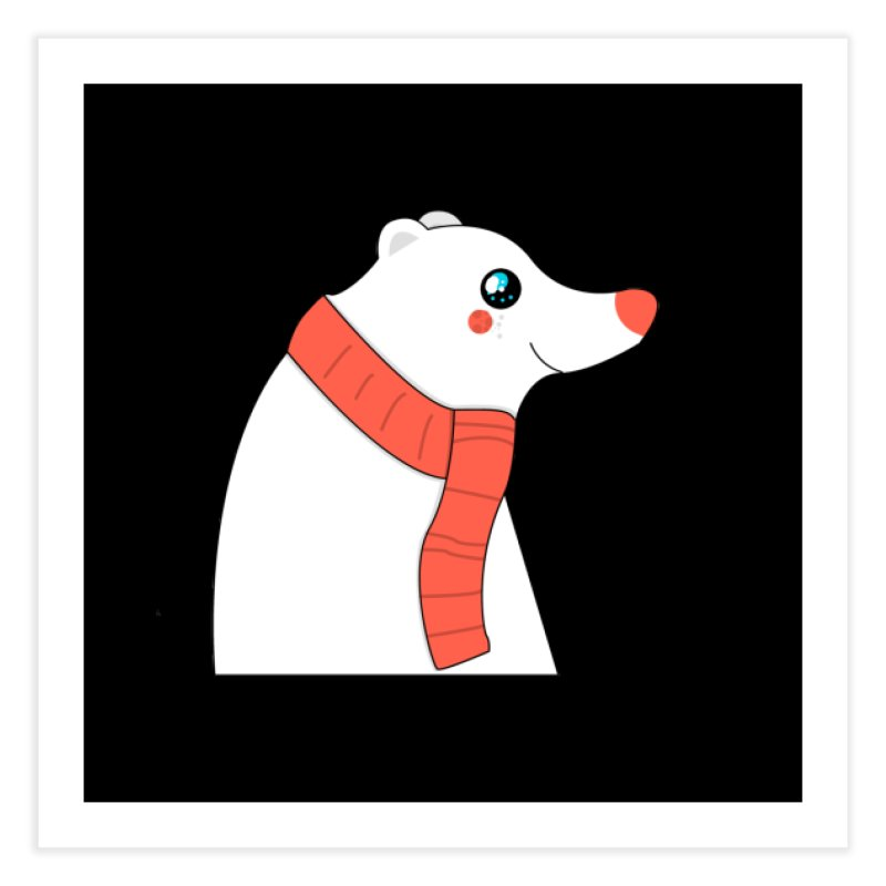 Christmas Polar Bear Home Fine Art Print by theladyernestember's Artist Shop