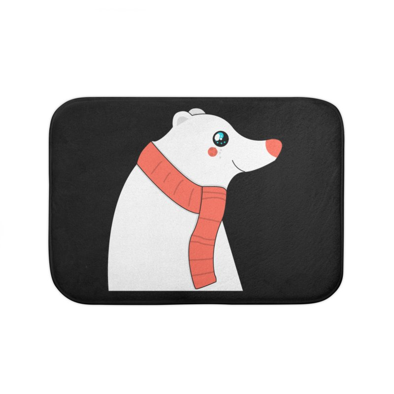 Christmas Polar Bear Home Bath Mat by theladyernestember's Artist Shop