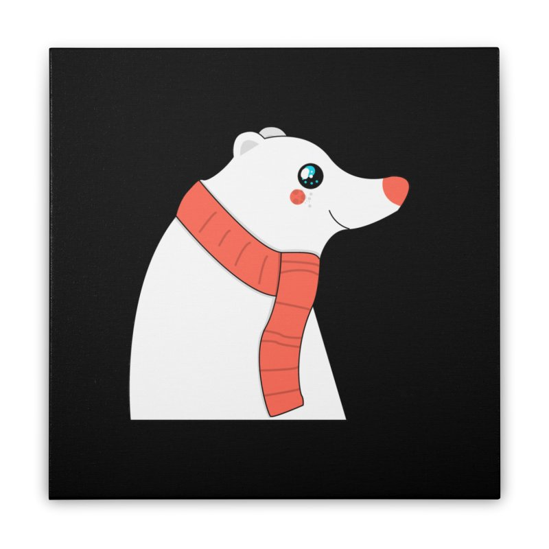 Christmas Polar Bear Home Stretched Canvas by theladyernestember's Artist Shop