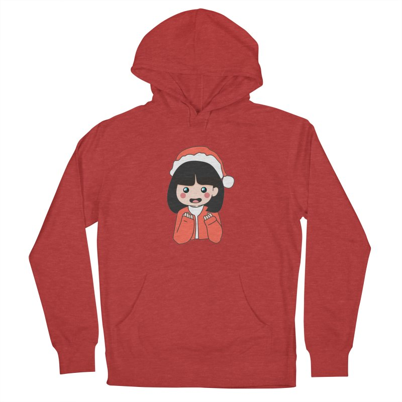 Christmas Girl Women's French Terry Pullover Hoody by theladyernestember's Artist Shop