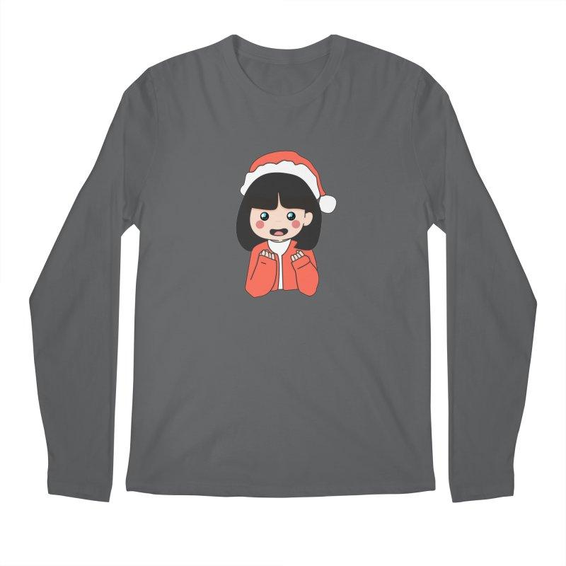 Christmas Girl Men's Regular Longsleeve T-Shirt by theladyernestember's Artist Shop