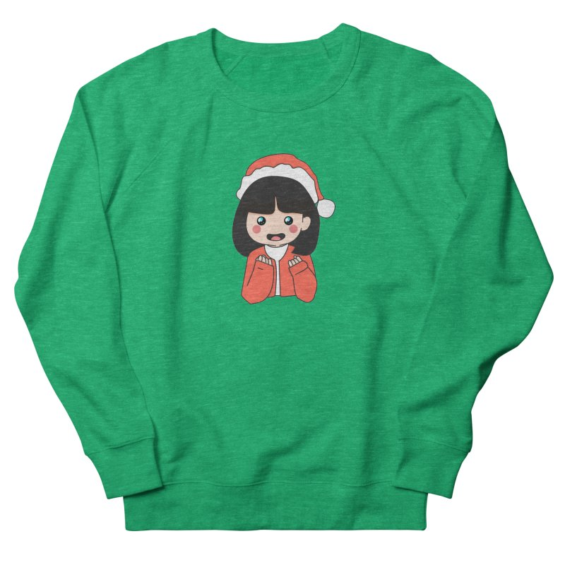 Christmas Girl Women's French Terry Sweatshirt by theladyernestember's Artist Shop