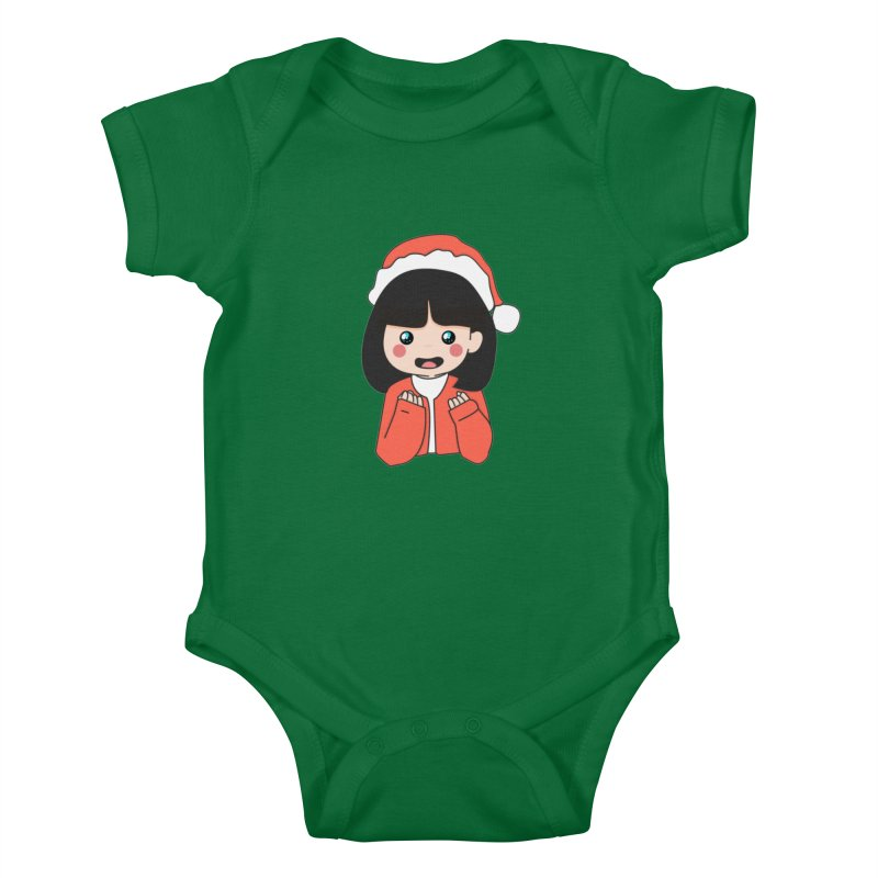 Christmas Girl Kids Baby Bodysuit by theladyernestember's Artist Shop