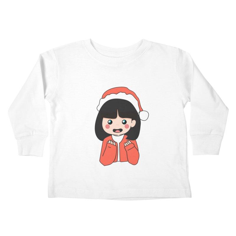 Christmas Girl Kids Toddler Longsleeve T-Shirt by theladyernestember's Artist Shop