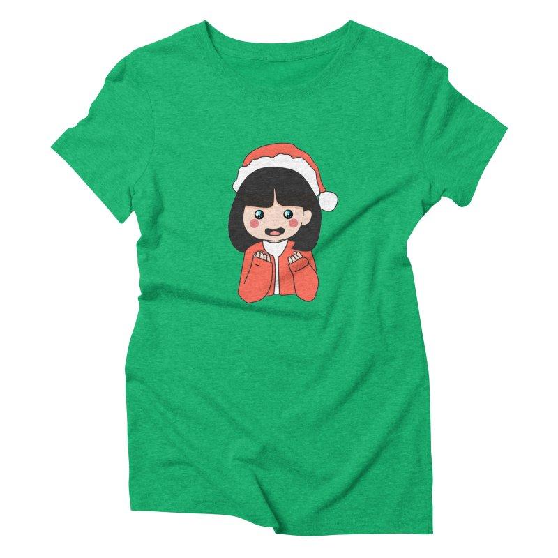 Christmas Girl Women's Triblend T-Shirt by theladyernestember's Artist Shop