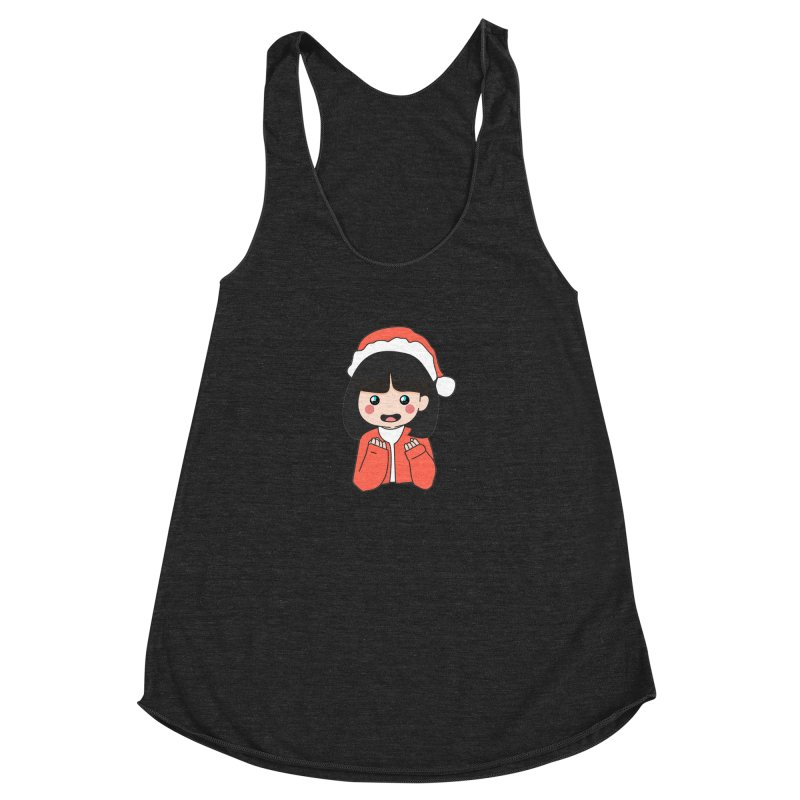 Christmas Girl Women's Racerback Triblend Tank by theladyernestember's Artist Shop