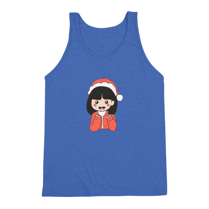 Christmas Girl Men's Triblend Tank by theladyernestember's Artist Shop
