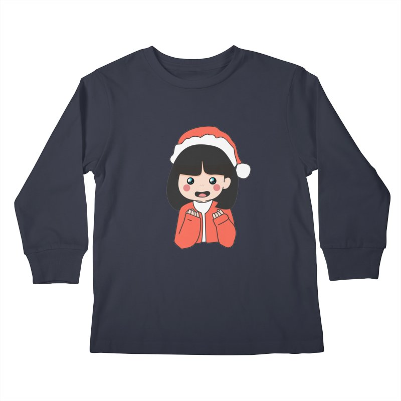 Christmas Girl Kids Longsleeve T-Shirt by theladyernestember's Artist Shop