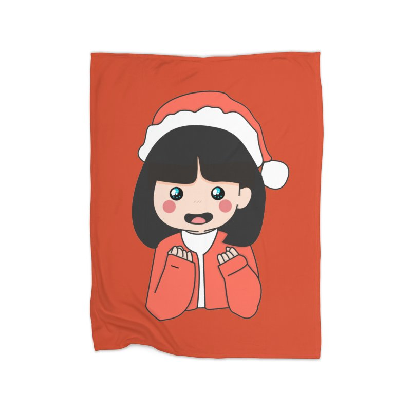 Christmas Girl Home Blanket by theladyernestember's Artist Shop