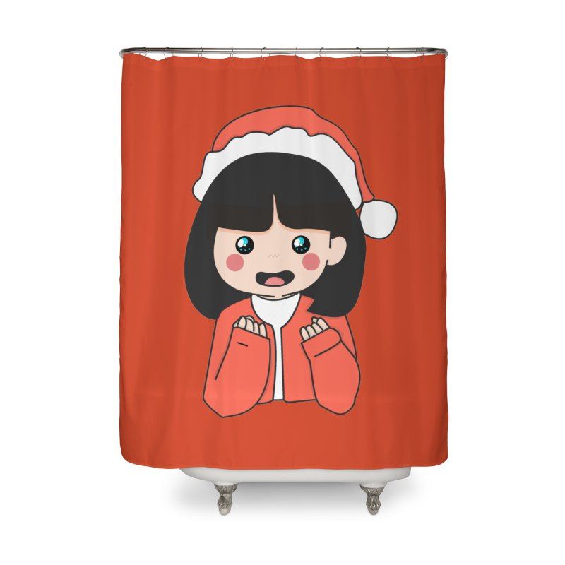 Christmas Girl Home Shower Curtain by theladyernestember's Artist Shop