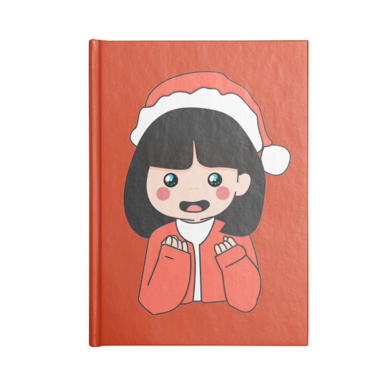 Christmas Girl Accessories Notebook by theladyernestember's Artist Shop