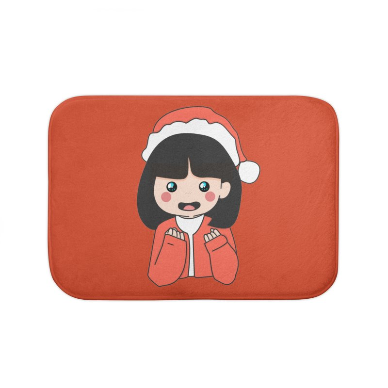 Christmas Girl Home Bath Mat by theladyernestember's Artist Shop