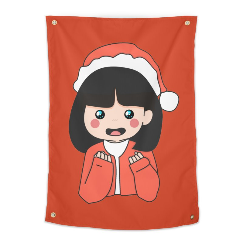 Christmas Girl Home Tapestry by theladyernestember's Artist Shop