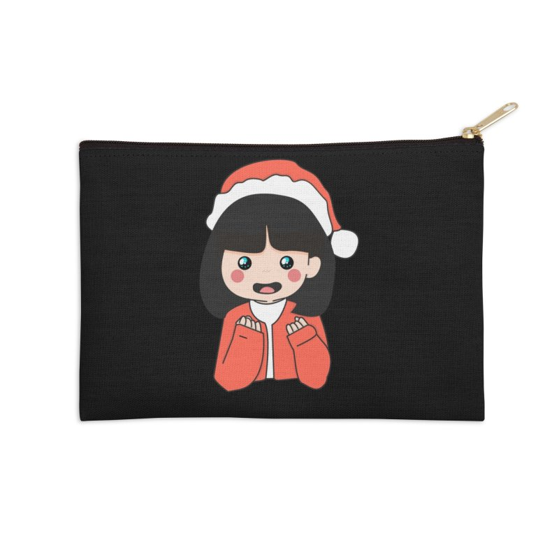 Christmas Girl Accessories Zip Pouch by theladyernestember's Artist Shop