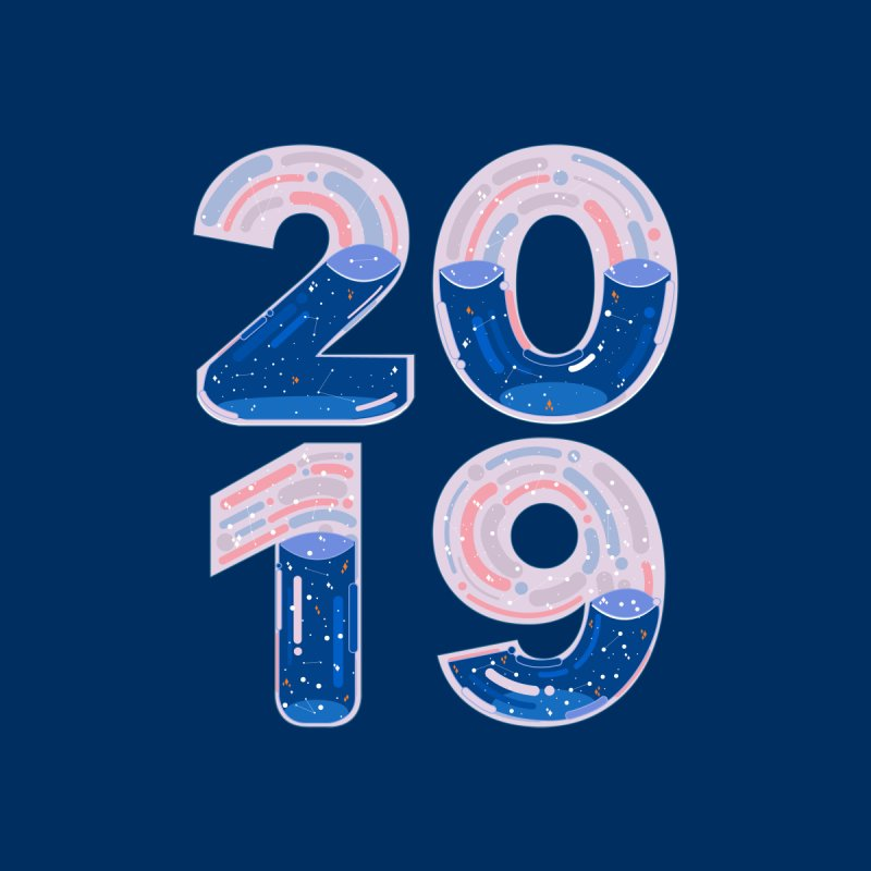 New Year : 2019 by theladyernestember's Artist Shop