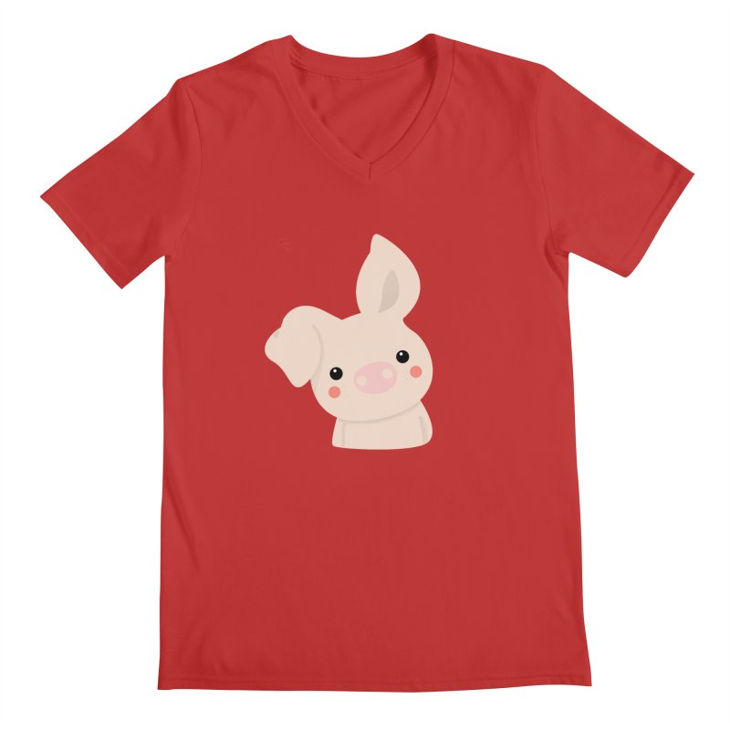 Happy Chinese New Year - Pig Men's V-Neck by theladyernestember's Artist Shop